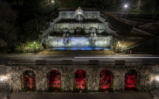 Rampe del Poggi di Firenze con la nuova illuminazione, photo courtesy SILFIspa