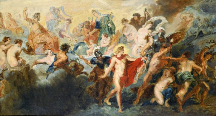 """Pierre-Auguste Renoir, Copy after the Painting by Rubens """"The Council of Gods"""", 1861. Oil on canvas, 45.8 × 83.5 cm. National Museum of Western Art, Tokyo, Japan. Donated by Mr. Ryuzaburo Umehara. Image courtesy of the Kimbell Art Museum"""