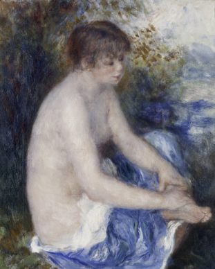 Pierre-Auguste Renoir, Petit nu bleu, c. 1878–79. Oil on canvas, 46.355 x 38.1 cm. Albright-Knox Art Gallery, Buffalo, New York. General Purchase Funds, 1941. Image courtesy of the Kimbell Art Museum