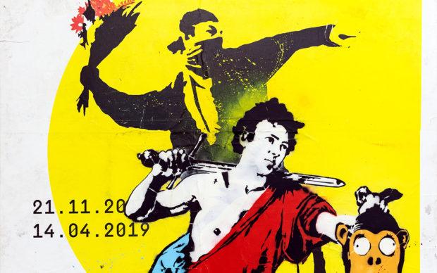 Savethewall,streetart without street is just art, poster su tela, cm 197x139,pezzo unico