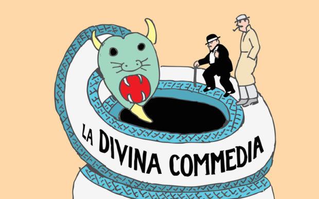 La Divina Commedia di Dante Seymour Chwast (Quodlibet, 2019), dettaglio della copertina