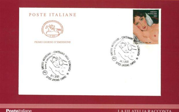 Emissione filatelica francobollo Modigliani