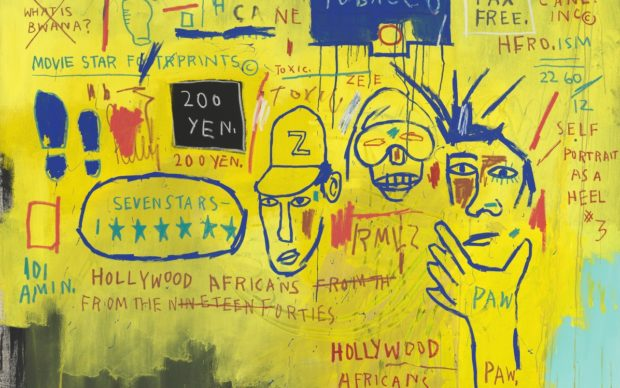 Jean-Michel Basquiat, Hollywood Africans (1983), Whitney Museum of American Art, © Estate of Jean-Michel Basquiat. Licensed by Artestar, New York