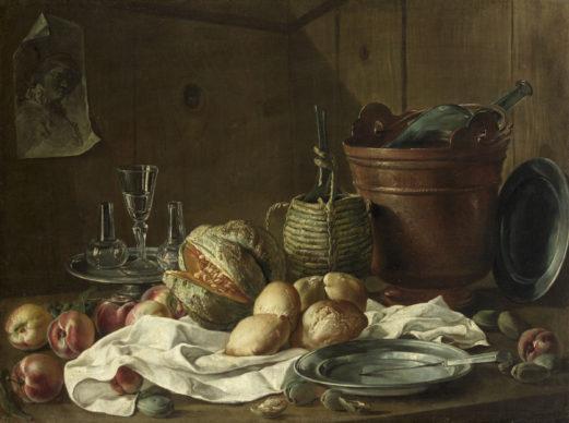 Anonimo, Natura morta con frutta, 1740-1750 circa, olio su tela, 74,5 cm × 98 cm, Courtesy KHM-Museumsverband