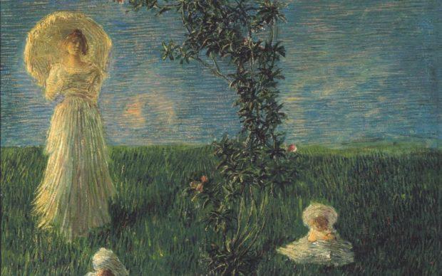 Gaetano Previati, Nel prato (Pace), 1889-90. Firenze, Gallerie degli Uffizi, Galleria d'Arte Moderna di Palazzo Pitti. Su concessione del MiBACT
