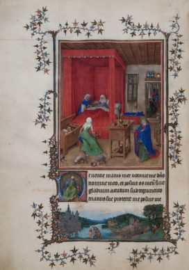 Hand G (Jan van Eyck?), The Turin - Milan Book of Hours , c. 1410-1440. Tempera, gold and ink on parchment 284 x 203 mm Palazzo Madama, Turin - Museo Civico d'Arte Antica. Reproduced by permission of the Fondazione Torino Musei