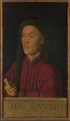 Jan van Eyck, Portrait of a M an (Léal souvenir or Tymotheos), 1432. Oil on panel 33,3 x 18,9 cm The National Gallery, Londen © The National Gallery, London