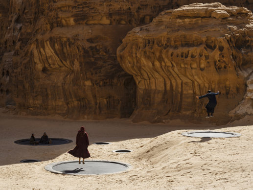 Manal AlDowayan, Now You See Me, Now You Don't, installation view at Desert X AlUla, photo by Lance Gerber, courtesy the artist, RCU and Desert X