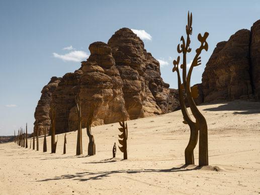 Nadim Karam, On Parade, installation view at Desert X AlUla, photo Lance Gerber, courtesy the artist, RCU and Desert X