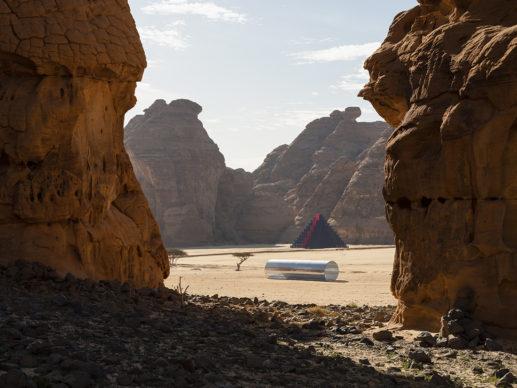 Nasser AlSalem, Amma Qabel, installation view at Desert X AlUla, photo Lance Gerber, courtesy the artist, RCU and Desert X