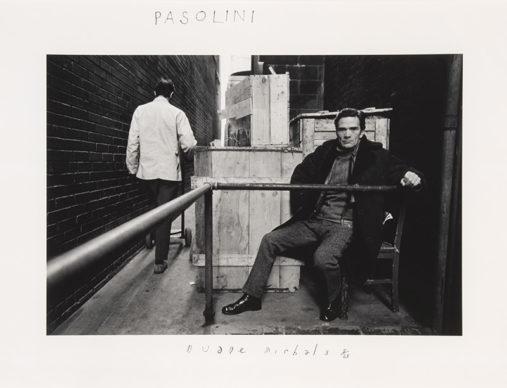 Duane Michals, Pasolini, 1969 © Duane Michals courtesy Admira, Milano