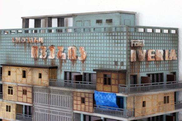 """Guido Zimmermann, Cuckoo Block """"Hotel Iveria"""" (dettaglio), courtesy the artist"""