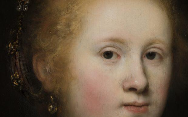 Rembrandt, Ritratto di giovane donna (dettaglio), Courtesy of the Allentown Art Museum