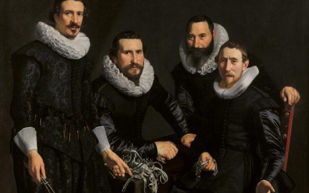 Thomas de Keyser, Síndicos del gremio de orfebres de Ámsterdam, 1626-1627 (Headmen of the Amsterdam Goldand Silversmiths' Guild). Óleo sobre lienzo, 127,2 × 152,4 cm. Toledo Museum of Art. Adquisición del museo