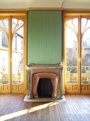 Villa Majorelle Nancy, chambreà coucher, 1er étage, vue de la cheminée. (c)MEN 2019, cliché S.Levaillant