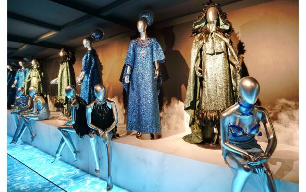 Vista della mostracinemaddosso. I costumi di Annamode da Cinecittà a Hollywood, Museo Nazionale del Cinema di Torino 2020. Photo Michele D'Ottavio
