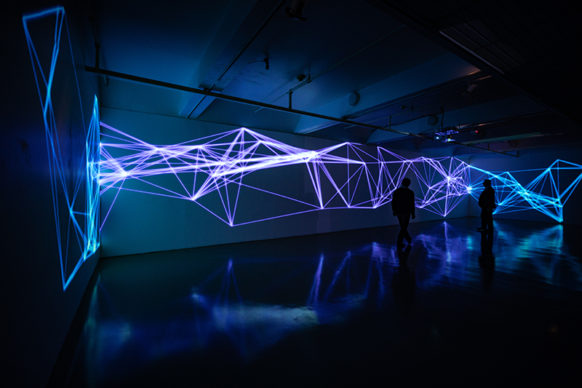 Miguel Chevalier, Complex Meshes 2020. Wood Street Galleries, Pittsburgh (USA). Credit picture: Miguel Chevalier