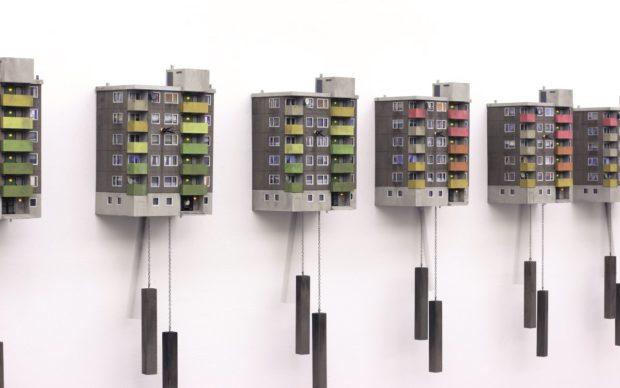 "Guido Zimmermann, Cuckoo Block ""Frankfurt − Green / Red Edition"", courtesy the artist"