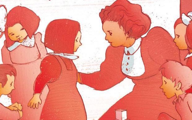 Maria Montessori. Il metodo improprio, BeccoGiallo, dettaglio della copertina