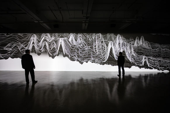 Miguel Chevalier, Oscillations 2020. Wood Street Galleries, Pittsburgh (USA). Credit picture: Miguel Chevalier