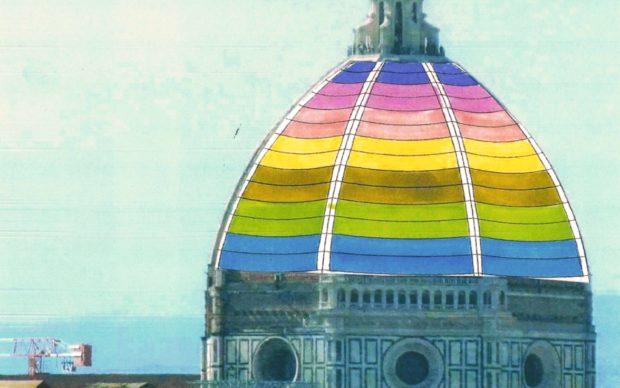 Bozzetto di Roberto Corazziper le proiezioni sulla Cupola. Courtesy: Roberto Corazzi per Opera di Santa Maria del Fiore