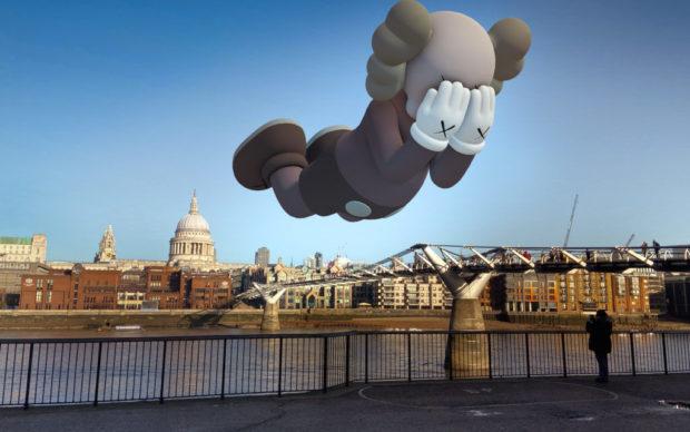 KAWS, Companion Extended - London - Courtesy Acute Art 2020, via Artribune
