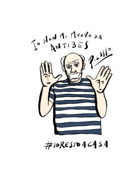 Gli artisti accasati di Gianluca Biscalchin: Pablo Picasso. Courtesy l'artista