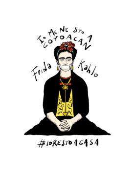 Gli artisti accasati di Gianluca Biscalchin: Frida Kahlo. Courtesy l'artista