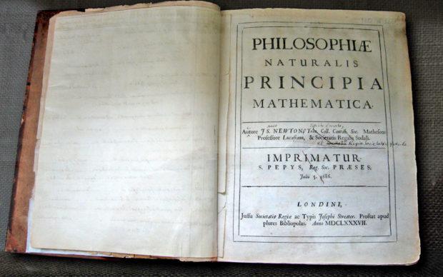 Newton's Principia, Photograph ©Andrew Dunn, 5 November 2004, via Wikimedia Commons,(CC BY-SA 2.0), no changes were made