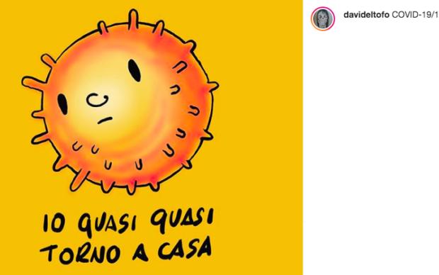 uno screenshot della pagina Instagram di Davide Toffolo