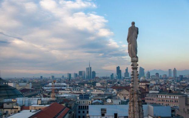 Skyline Milano dal Duomo di Milano Photo Irene Fanizza