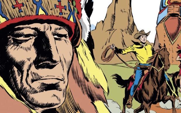 un dettaglio della copertina di Tex Classic 1–Il totem misterioso