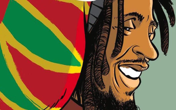 Bob Marley in Comics, dettaglio della copertina