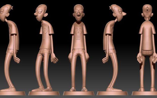 Le statuette 3D di Zerocalcare - foto pubblicata sui social di BAO Publishing