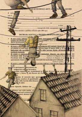 @ema.nuelasandu, Ciò che accade di notte. Courtesy Autocertificazioni illustrate