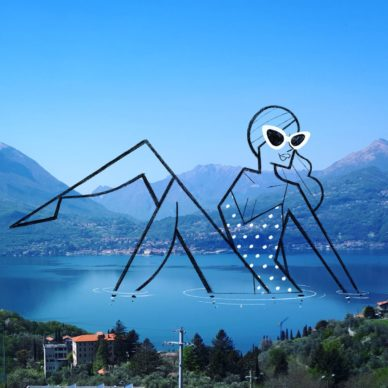 Lago di Como_by Ale Giorgini (photo @fiorelisavarenna). Courtesy l'artista