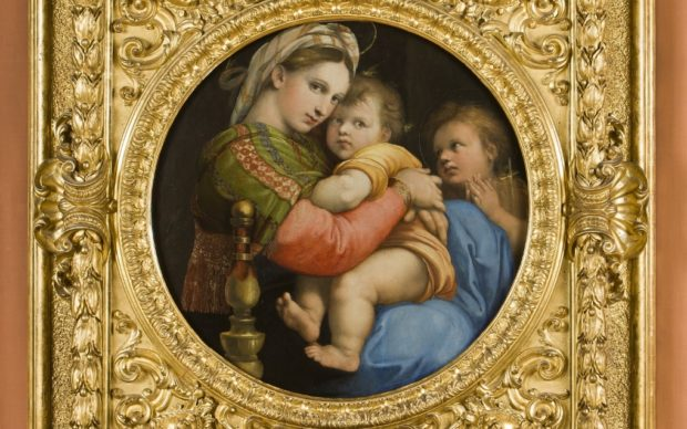 Raffaello, Madonna della Seggiola courtesy gli Uffizi