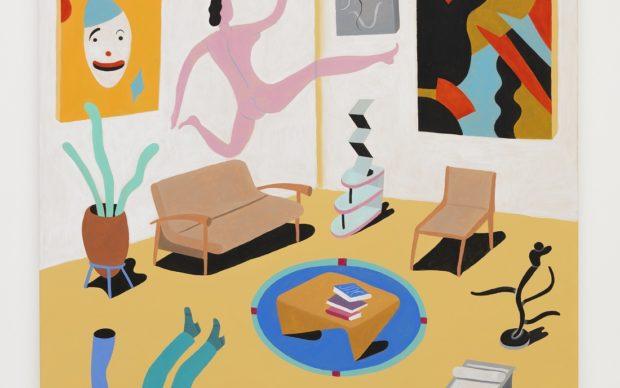 Marcelo Cipis (1959), Sala de Estar Moderna 5, 2020. Acrylic on canvas, 160 x 140 cm. MCP-0129. Photo Ding Musa. Courtesy Bergamin & Gomide