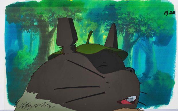 My Neighbor Totoro by Studio Ghibli. Totoro Animation Cel, 1988, acrylic on cel 23 by 36 cm. Est. HK$70,000 – 90,000
