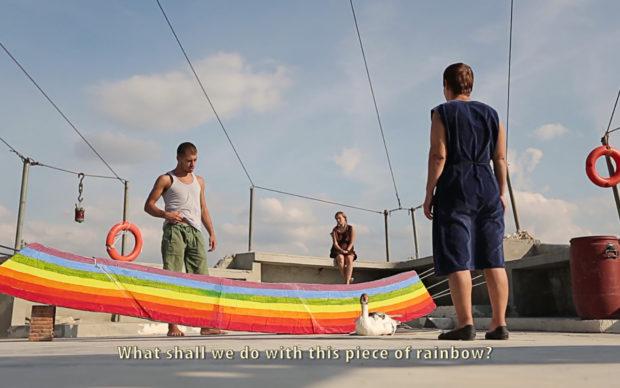 Driant Zeneli, Those who tried to put the Rainbow back in the Sky. Stampa fotografica a colori, carta opaca 25x45cm, edizione in 5 copie
