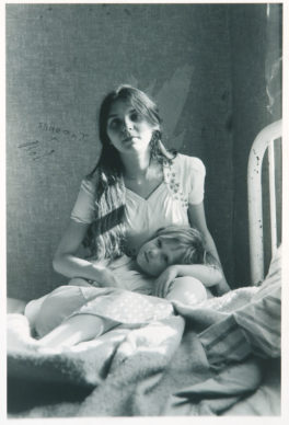 Joan Cassis, Joan Cassis and Samantha, 1972; gelatin silver print, 7 /8 x 5 1/8 in.; National Museum of Women in the Arts, Gift of Victoria Cassis in memory of her daughter, Joan Cassis; © Joan Cassis