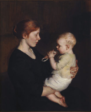 Marie Danforth Page, Her Littlest One, 1914; oil on canvas, 36 1/8 x 29 1/2 in.; National Museum of Women in the Arts, Gift of Wallace and Wilhelmina Holladay; Photo by Lee Stalsworth