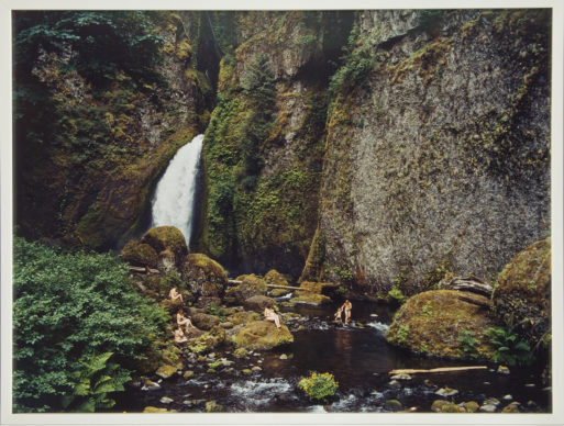 Justine Kurland, Waterfall, Mama Babies, 2006; chromogenic color print, 30 x 40 in.; NMWA, Gift of Heather and Tony Podesta Collection; © Justine Kurland, Courtesy of the artist and Mitchell-Innes & Nash, New York