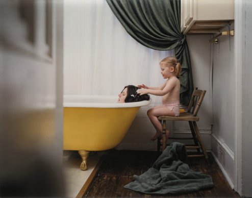 Angela Strassheim, Untitled (Yellow Tub), 2003; chromogenic color print, 29 1/2 x 37 x 1 1/2 in.; National Museum of Women in the Arts, Gift of Heather and Tony Podesta Collection; © Angela Strassheim; Photo by Lee Stalsworth