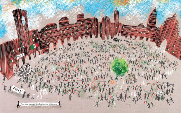 PIAZZA XXV APRILE di Pierdomenico Baccalario - Rizzoli Copyright © 2020 Book on a Tree Illustrazioni © Alessandro Sanna 2020