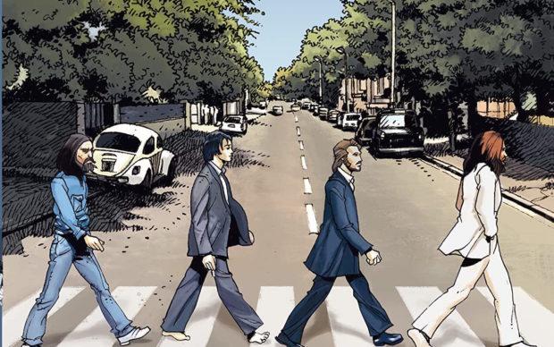 The Beatles in Comics, dettaglio della copertina