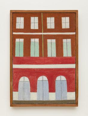 Alfredo Volpi (1896-1988), Untitled (Fachadas), mid 1950's. Tempera on canvas, 21 5/8 x 15 in. AV-0112. Photo Ding Musa. Courtesy Bergamin & Gomide