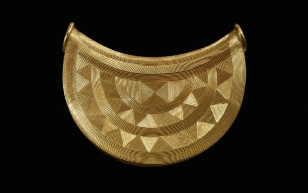 A 3,000-year old gold sun pendant. © The Trustees of the British Museum