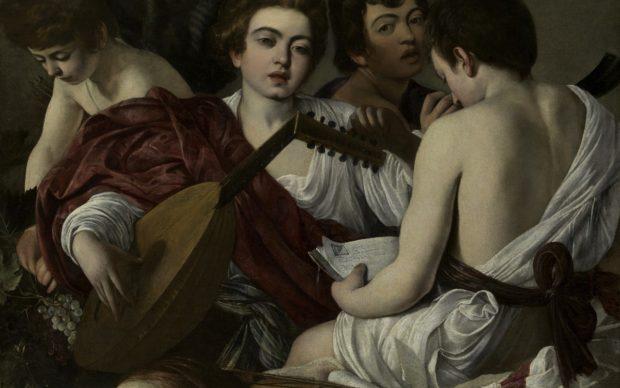 Michelangelo Merisi, detto il Caravaggio, I musici, 1597, 92 x 118,5 cm, New York, The Metropolitan Museum of Art