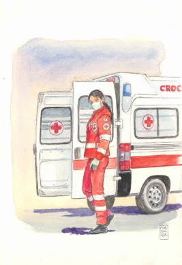 Milo Manara, Croce Rossa da Lockdown Heroes